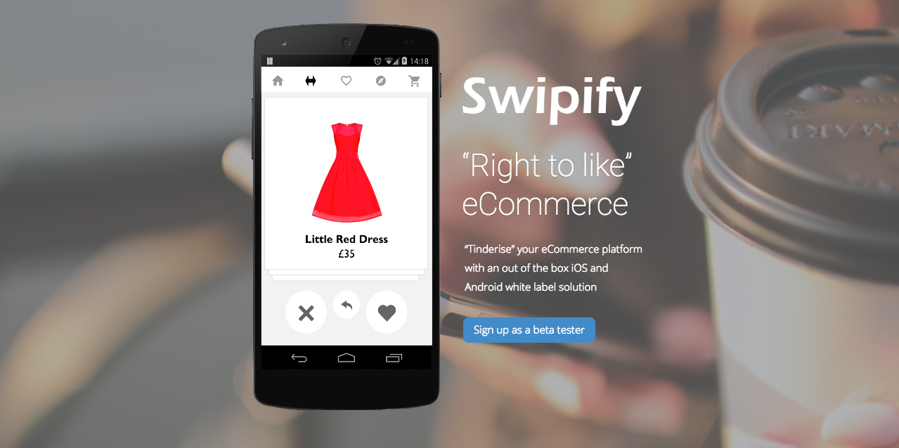 Swipify mobile app