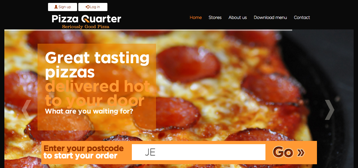 We launch the new web for Pizza Quarter in Jersey