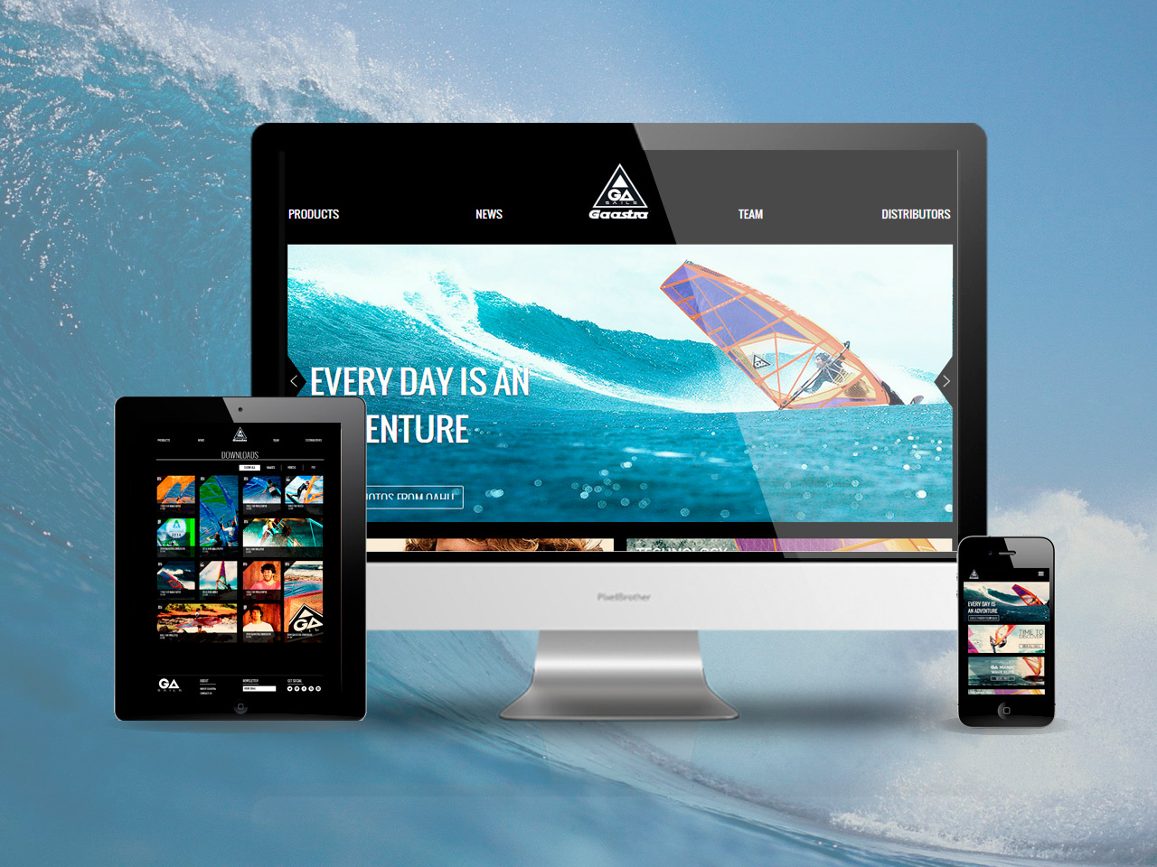 We build new websites for the Gaastra group