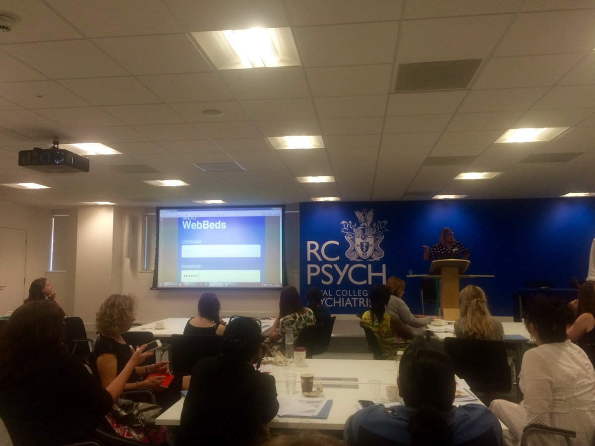 NHS Web beds app is presented at the RC of Psychiatrists