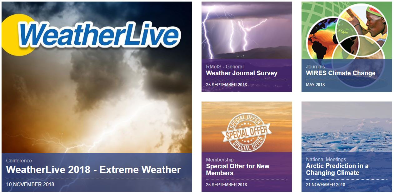 Our new web portal for the Royal Meteorological Society