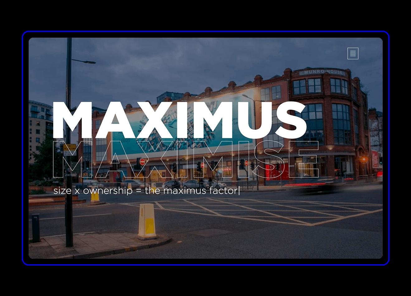 Maximus main page