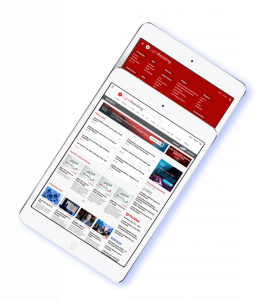 A mockup on a tablet made for an Informa project
