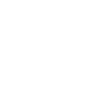 A white logo of Amazon Web Services