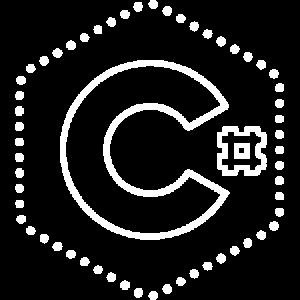 A white logo of C Sharp