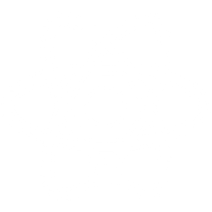 A white logo of React or React Native