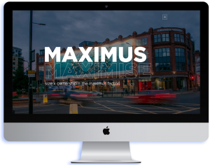 A Maximus mockup on an IMac