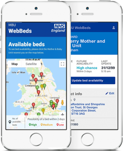 Small NHS phone mockup